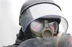 Policier d'émeute. Photo libre de droits