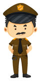 Policier dans l'uniforme brun Image stock