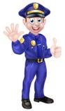 Policier de bande dessinée Image libre de droits