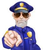 Policier de bande dessinée Photos stock
