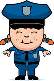 Policier de fille Photos stock