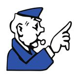 Policier de monopole illustration stock