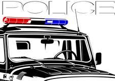 Policier de radiophare illustration de vecteur