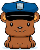 Policier de sourire de bande dessinée Bear Photographie stock