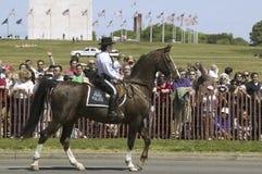 Policier de stationnements nationaux à cheval photographie stock libre de droits