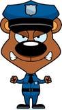 Policier fâché de bande dessinée Bear Images libres de droits