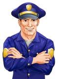 Policier heureux Photos stock