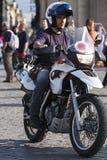 Policier italien dans la moto Photographie stock