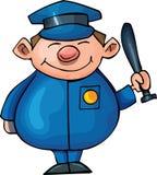 Policier mignon de dessin animé Image libre de droits