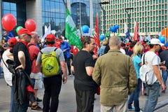 Policiers belges en grève photo stock
