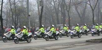 policiers militaires de défilé Photo stock