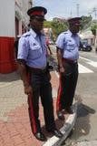 Policiers royaux du Grenada dans le ` s, Grenada de St George Image stock