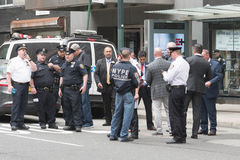 Policiers sur les rues Photo stock