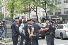 Policiers sur les rues Photos libres de droits
