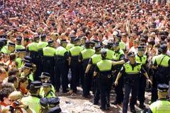 Policiers travaillant au festival de San Fermin Photo libre de droits