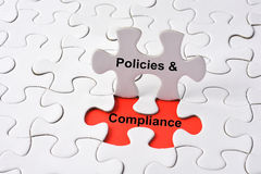 POLICIES & COMPLIANCE Royalty Free Stock Images