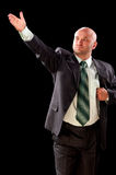 Policies, parody. Man in a suit. A parody on politicians Royalty Free Stock Photography