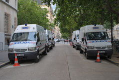 Policing parking. Royalty Free Stock Photo
