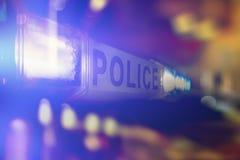 Policj światła nocą fotografia stock