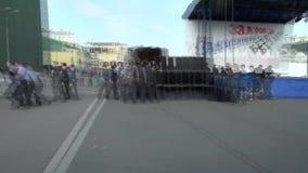Policja aresztujący Alexei Navalny, Bolotnaya kwadrat zbiory wideo