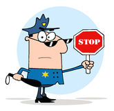 Policja drogowa dowodzi Obraz Royalty Free