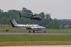 policja helikoptera samolotu zdjęcia royalty free