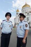 Policja na ulicach Moskwa fotografia royalty free