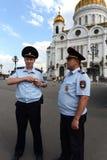 Policja na ulicach Moskwa fotografia stock