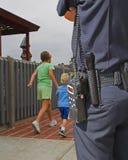 policja obserwuje stróż obraz royalty free