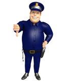 Policja z kciukami zestrzela pozę Zdjęcia Stock