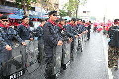 policja zapewnia ochronę Zdjęcia Stock