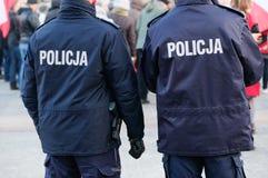 Policjanci na miasto ulicie Zdjęcie Stock