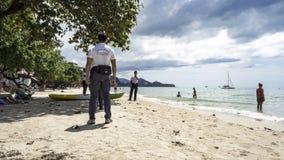 Policjanci na plaży, Tajlandia fotografia royalty free