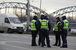 Policjanci w ulicie Zdjęcie Royalty Free