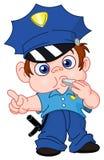 policjantów potomstwa ilustracja wektor