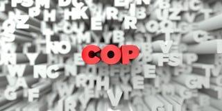 POLICJANT - Czerwony tekst na typografii tle - 3D odpłacający się królewskość bezpłatny akcyjny wizerunek ilustracja wektor