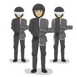 Policjant drużyna z umundurowaniem bojowym i hełmami royalty ilustracja