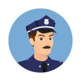 Policjant ikona ilustracja wektor