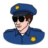 Policjant ilustracja na białym tle ilustracji