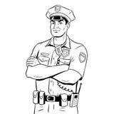 Policjant kolorystyki książki wektoru ilustracja Zdjęcia Royalty Free
