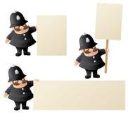 Policjant Ogłasza ilustracja wektor