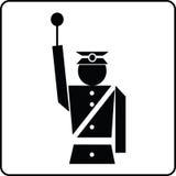 Policjant przerw znak royalty ilustracja