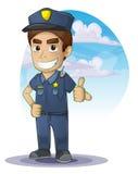 Policjant z oddzielonymi warstwami royalty ilustracja