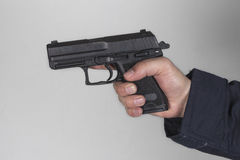 Policjant z pistoletem zdjęcia royalty free