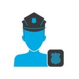 Policjanta błękita ikona ilustracja wektor