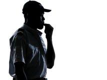policjanta podmuchowy gwizd Obrazy Stock
