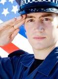 policjanta salut Zdjęcia Royalty Free