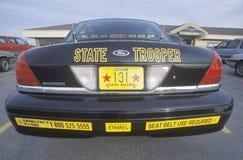 Policjanta Stanowy samochód Obrazy Royalty Free