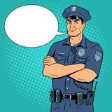 Policjanta wystrzału sztuki wektoru ilustracja Fotografia Royalty Free