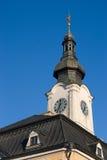 Policka, czech republic,. Baroque town hall in Policka, Czech republic stock image